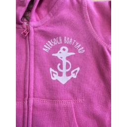 ANCHOR DESIGN FULL ZIP BABY/TODDLER HOODIE, PINK