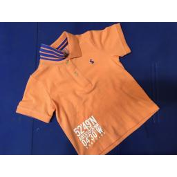 JOULES 'BETTER BY DEGREES' BOYS POLO SHIRT, ORANGE