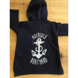 ANCHOR DESIGN FULL ZIP BABY/TODDLER HOODIE, NAVY