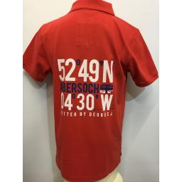 'BETTER BY DEGREES' COTTON POLO, RED