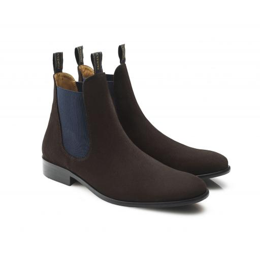 MENS SUEDE CHELSEA, CHOCOLATE - NOW REDUCED!