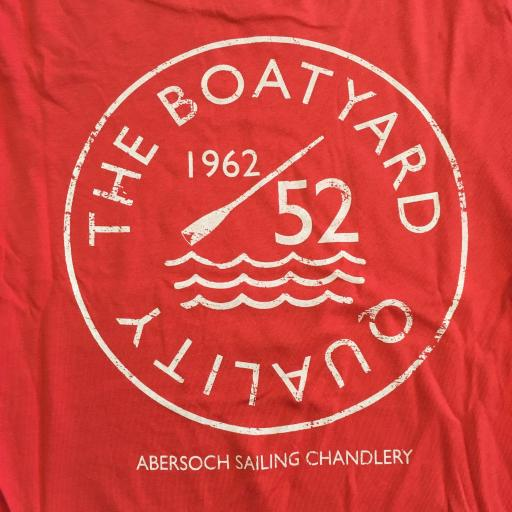 'BOATYARD QUALITY' DESIGN LADIES TEE, ORANGE