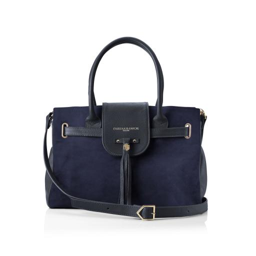 WINDSOR HANDBAG, NAVY