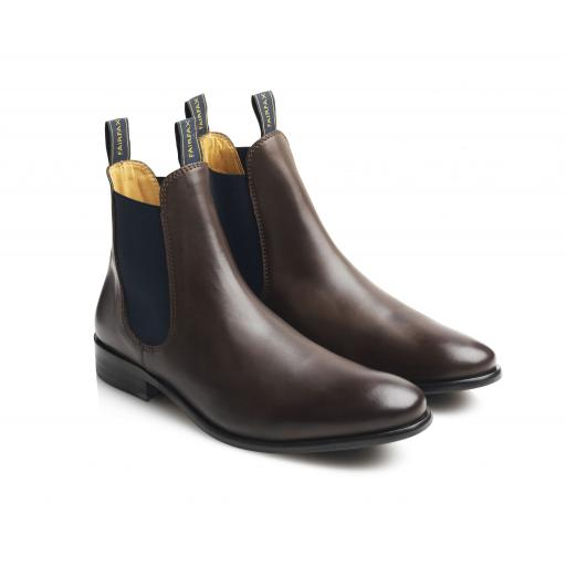 MENS LEATHER CHELSEA, BROWN - NOW REDUCED!