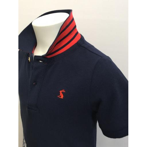 JOULES 'BETTER BY DEGREES' BOYS POLO SHIRT, FRENCH NAVY