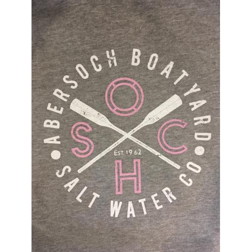 LADIES SOCH DESIGN MID WEIGHT HOODY, GREY