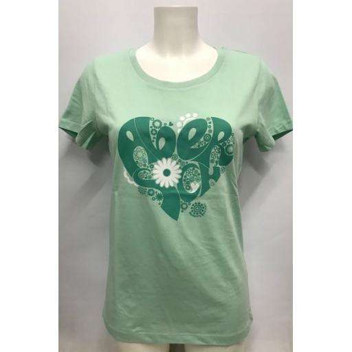 Ladies 'Hippie Heart' Design T-shirt