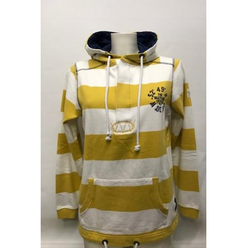 Lazy Jacks Co-ordinates Design Button Neck Hood, Yellow