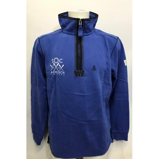 Lazy Jacks 'Crossed Oars' Design 1/4 Zip Sweatshirt