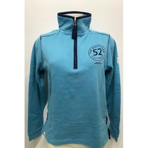 Lazy Jacks 'Boatyard Quality' 1/4 Zip Sweatshirt, Reef