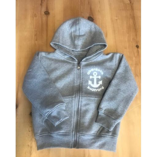 New Anchor design Baby/ Toddler Full Zip Hoodie, Grey
