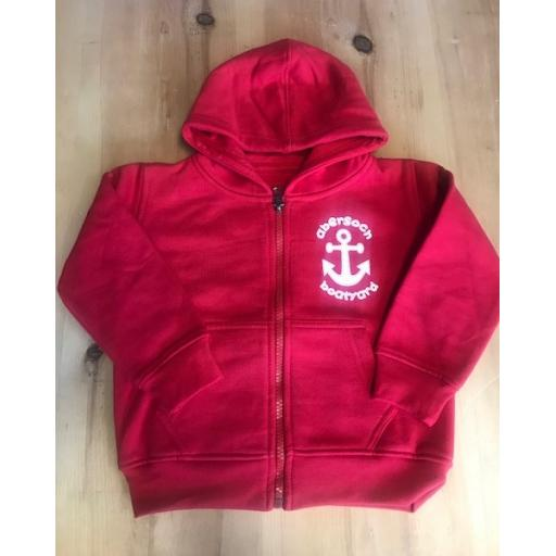 New Anchor Design Baby/Toddler Full Zip Hoodie, Red