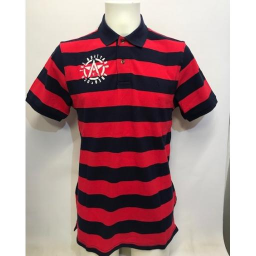 Mens 'Flying A' Design Striped Joules Polo