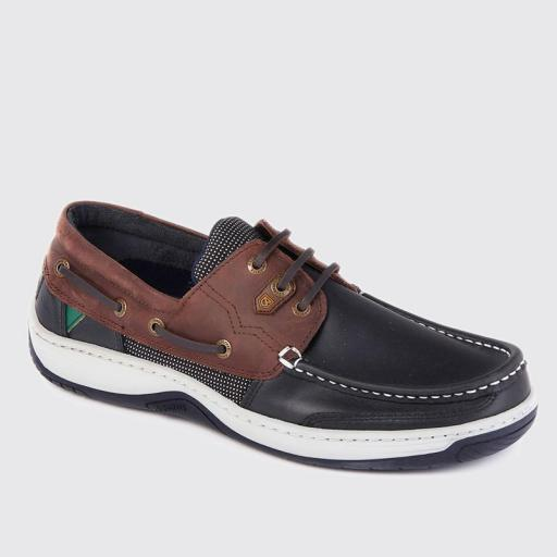 Dubarry regatta Deck Shoes, Navy/Brown