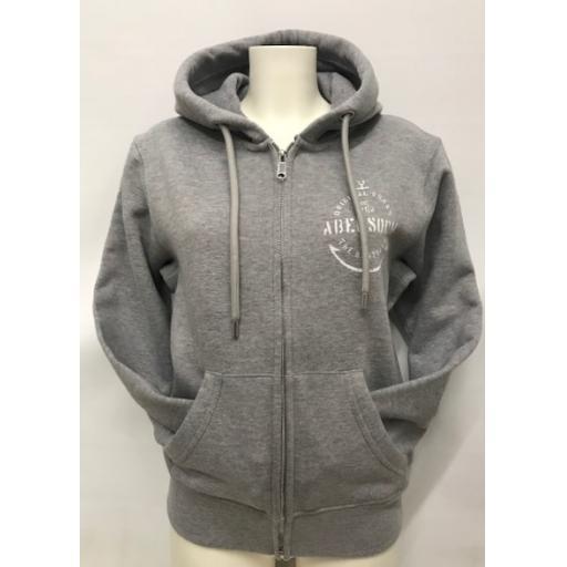 Organic Cotton Anchor Design Full Zip Hoody, Grey
