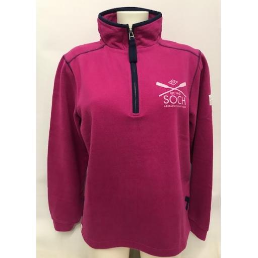 Lazy Jacks Crossed Oars Design 1/4 Zip Sweatshirt, Bright Berry