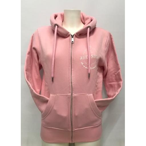 Organic Cotton Anchor Design Full Zip Hoody, Pink