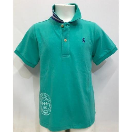 Joules Endurance Team Design Polo, Cool Green