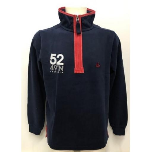 Lazy jacks Sail Design 1/4 Zip Sweatshirt, Navy