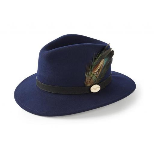 Hicks & Brown The Suffolk Fedora, Navy