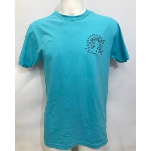 Mens Save Our Oceans Design T-shirt, Aqua