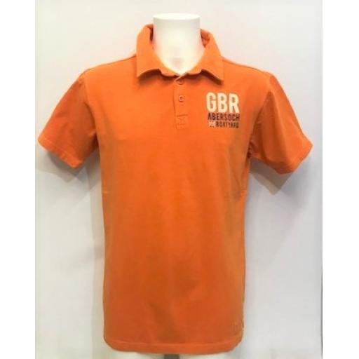Mens Yacht Design Polo Shirt, Orange