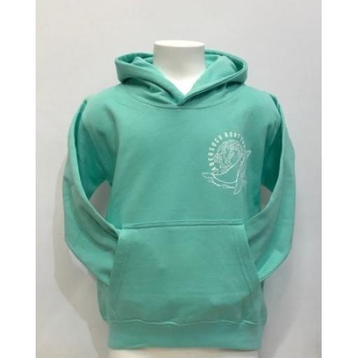Kids Save Our Oceans Design Hoodie, Peppermint