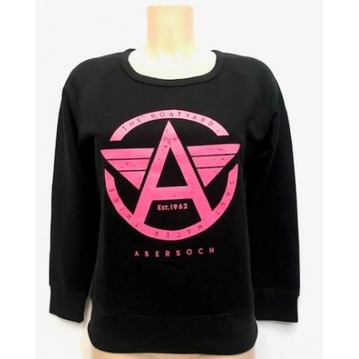 Flying A Design Sweatshirt, Black