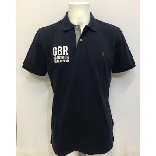 Mens GBR Design Joules Polo, Navy