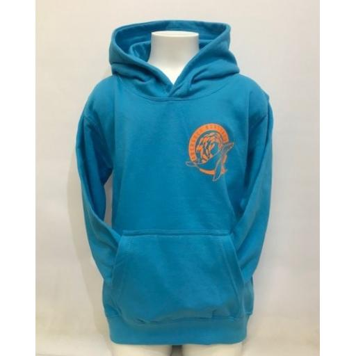 Kids Save Our Oceans Design Hoodie, Turquoise