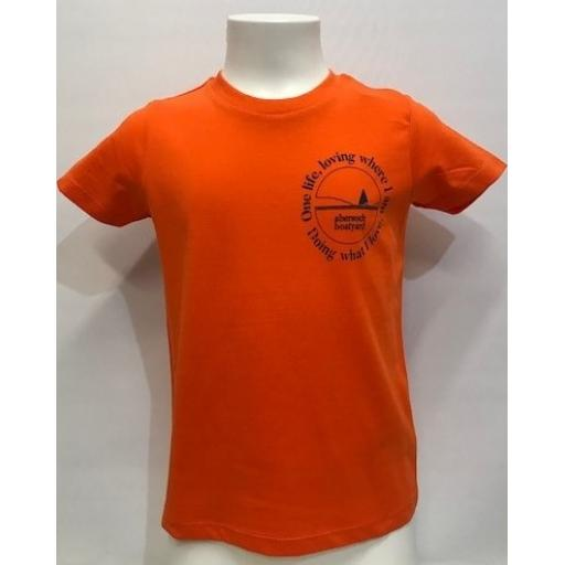 One Life Design Kids T-Shirt, Orange