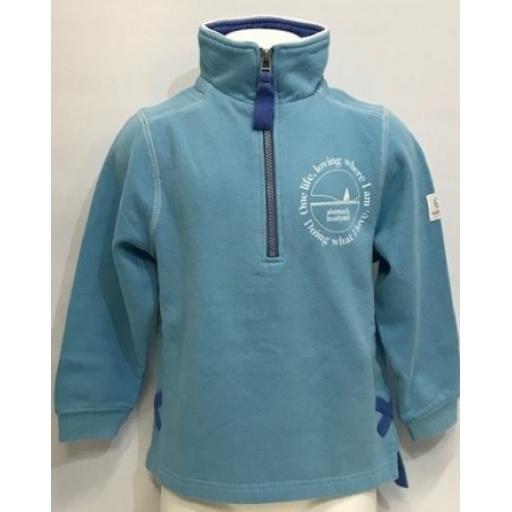 Kids One Life Design 1/4 Zip Sweatshirt, Reef