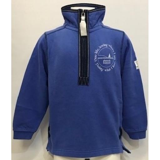 Kids One Life Design 1/4 Zip Sweatshirt, Denim
