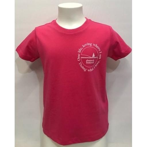 One Life Design Kids T-Shirt, Pink