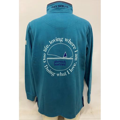 Lazy Jacks One Life Design 1/4 Zip Sweatshirt, Teal