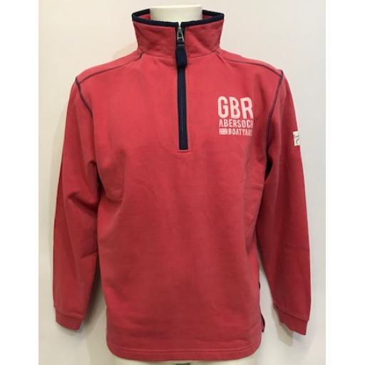 Lazy Jacks GBR Design 1/4 Zip Sweatshirt, Lobster