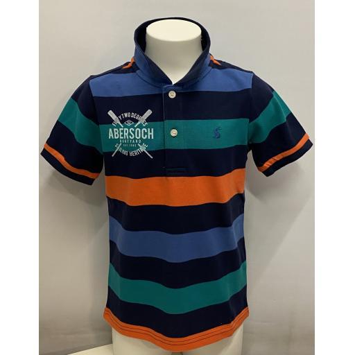 Kids Sailing Heritage Design Polo Shirt, Stripy