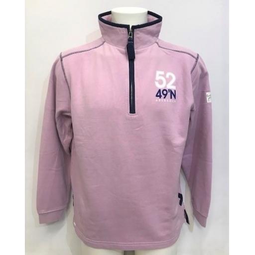 Lazy Jacks Sail Design 1/4 Zip Sweatshirt, Pink