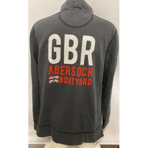 Brakeburn GBR & Flag Design 1/4 Zip Sweatshirt, Grey