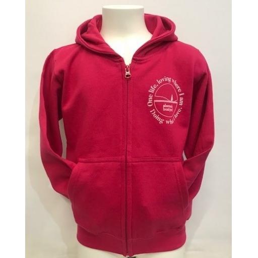 One Life Design Kids Full Zip Hoodie, Pink
