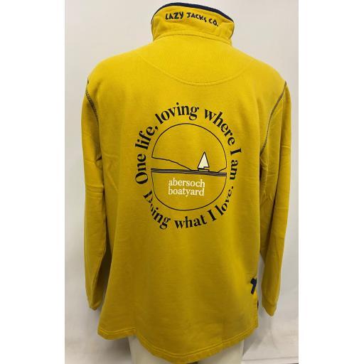 Lazy Jacks One Life Design 1/4 Zip Sweatshirt, Yellow
