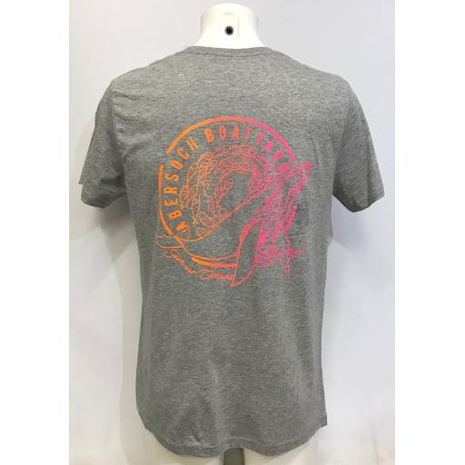 Mens Save Our Oceans Design T-Shirt, Grey Marl