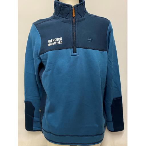 Brakeburn GBR Flag & EST 1962 Design 1/4 Zip Sweatshirt, Blue/Navy