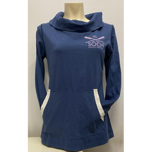 Crossed Oars Design, Neck Long Sleeve T-Shirt, Navy