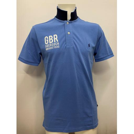 Mens GBR Design Joules Polo, Blue
