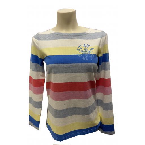 Joules Co-ordinates Design Crew Neck Top, Stripy