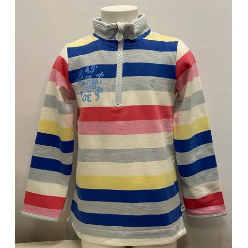 Kids Co-Ordinates Design 1/4 Zip Sweatshirt, Stripy
