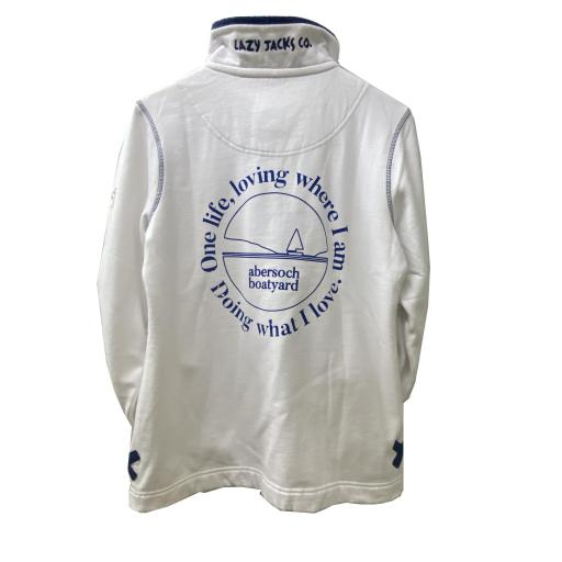 One Life Design, 1/4 Neck Buttoned Sweatshirt, White