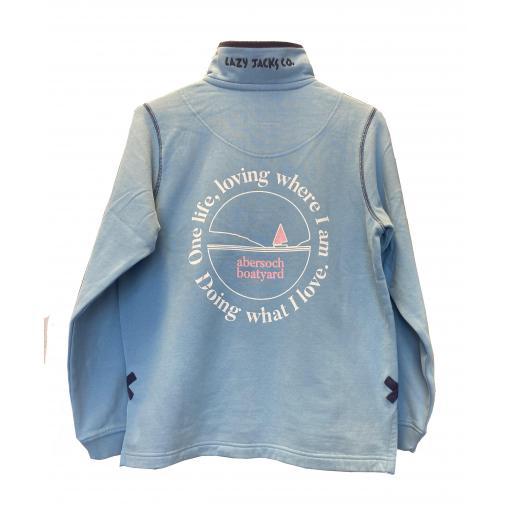Lazy Jacks One Life Design 1/4 Zip Sweatshirt, Reef
